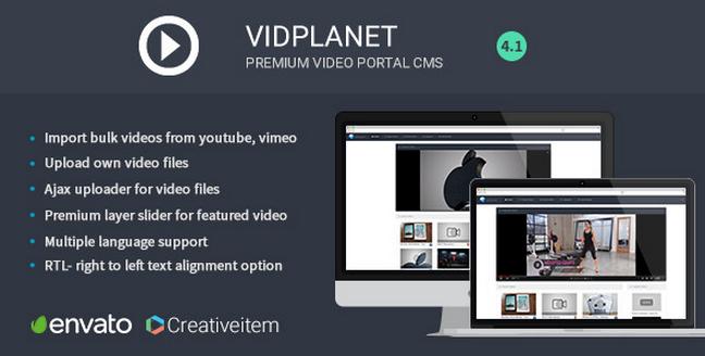 VidPlanet YouTube Video CMS Script v4 1 - Freemium Source