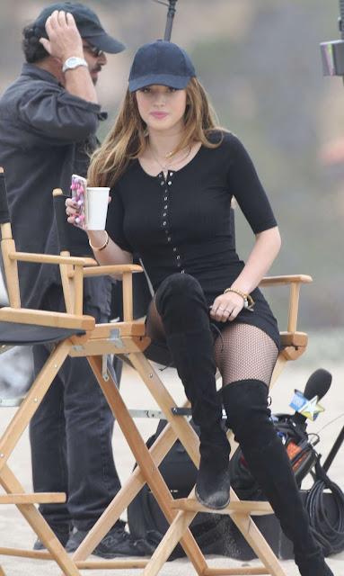 Bella Thorne in Short Dress on 'You Get Me' in San Pedro