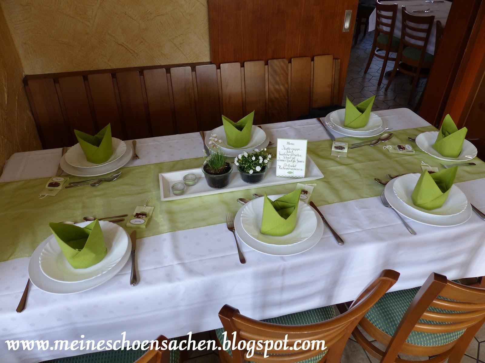 Meine Schonsachen Tischdeko Zur Konfirmation