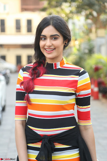 Adha Sharma in a Cute ed Short Tight Colorful Dress Spicy Pics Feb 2017 001.JPG