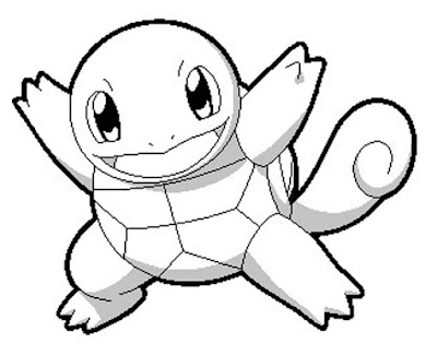 Squirtle coloring page 3