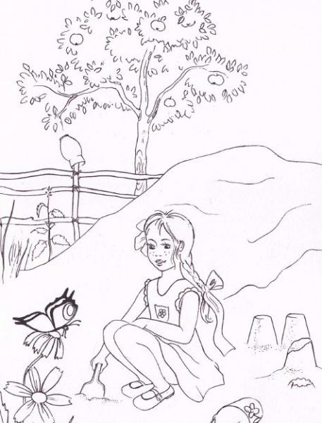 Раскраски деткам: Раскраски лето