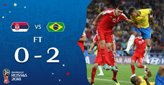 Serbia vs Brasil 0-2 Highlights - Piala Dunia 2018