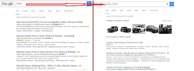 better search result-normal and minus