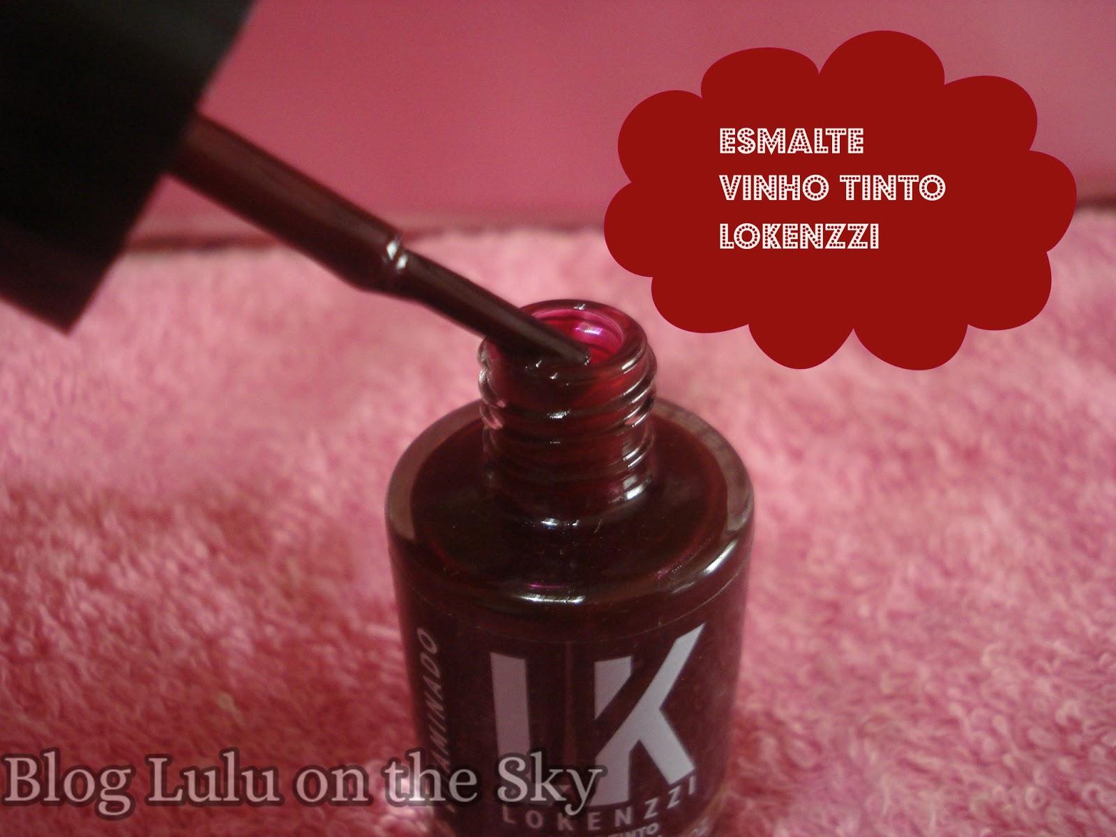 Esmalte vinho tinto da Lokenzzi