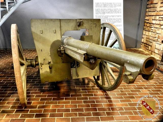 JARVILLE-LA-MALGRANGE (54) - Musée du Fer : Canon de 75 mm