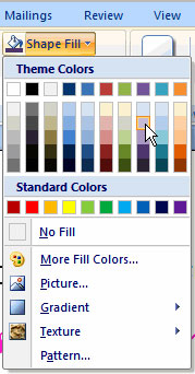 Image for Change Fill Color in Word All Version