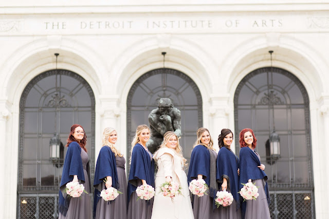 bridesmaids at detroit institute of arts