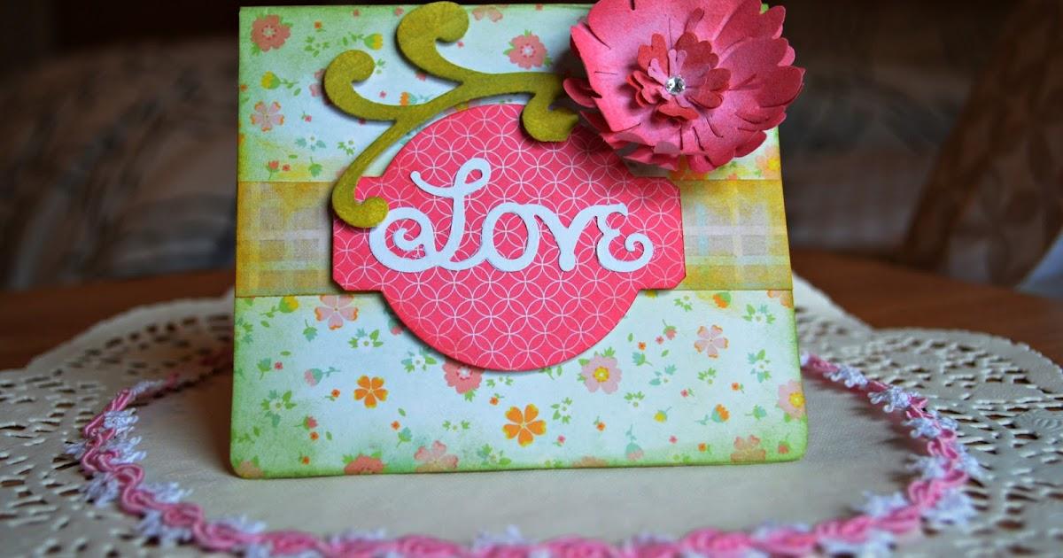 lightbox creative ideas love card with sizzix