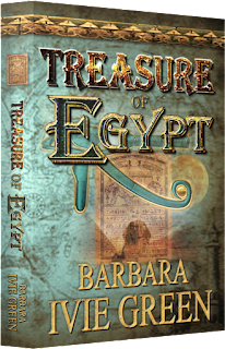 http://www.amazon.com/Treasure-Egypt-adventure-Romantic-Ancients-ebook/dp/B004NSV8JC/ref=sr_1_3?s=digital-text&ie=UTF8&qid=1433954287&sr=1-3&keywords=barbara+ivie+green