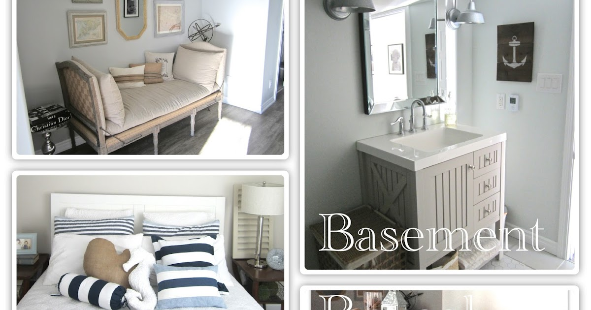 2perfection Decor Basement Coastal Bathroom Reveal: 2Perfection Decor: Our Basement Reno Full Reveal Recap