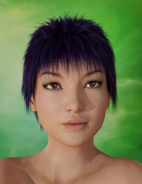 Magno Hair for Genesis 3 Female and Genesis 3 Male