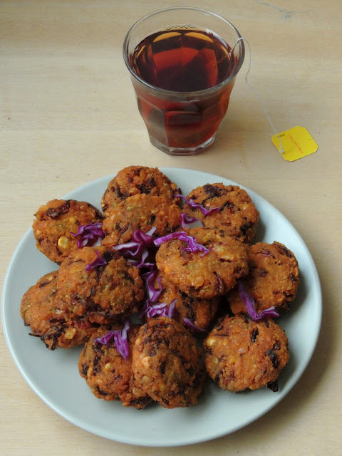 Muttaikose Vada, Purple cabbage Masala Vadai