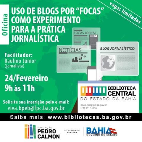 """Oficina para """"focas"""" tem segunda edição na Biblioteca Central do Estado da Bahia"""
