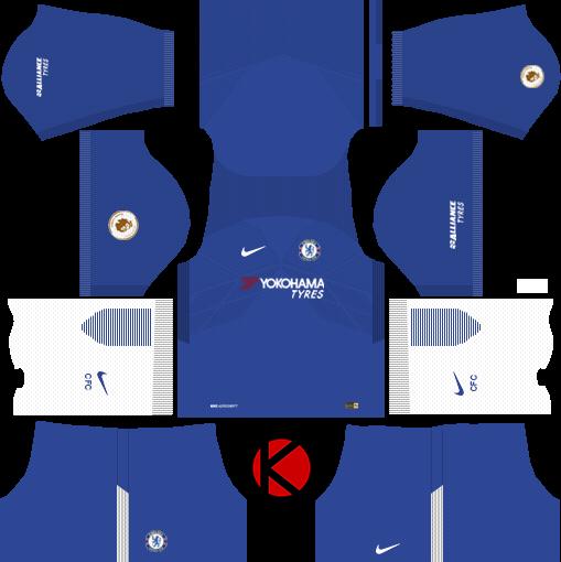 new concept c13f5 ad59e Chelsea F.C. Kits 2017/18 - Dream League Soccer - Kuchalana