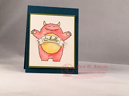 A Happy Monster Card featuring Yummy In My Tummy by Stampin' Up! Video Tutorial