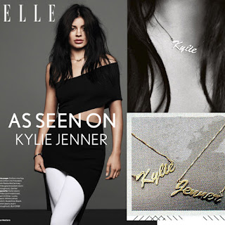 Kylie Jenner Gold Name Necklace