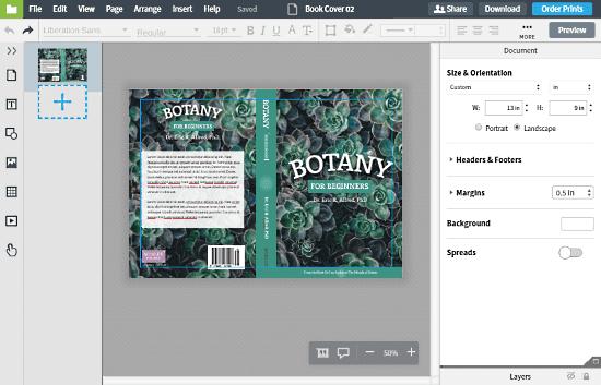 lucidpress-membuat sampul buku secara online gratis