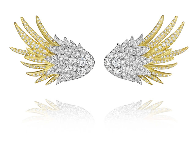 Forevermark by A. Link Diamond Wing Earrings set in 18k White and Yellow Gold