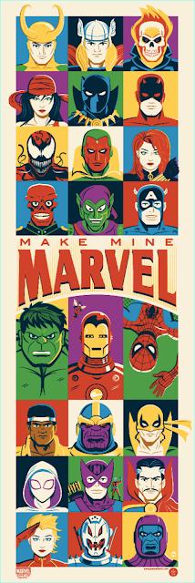 """Make Mine Marvel"" Screen Print by Dave Perillo x Grey Matter Art"