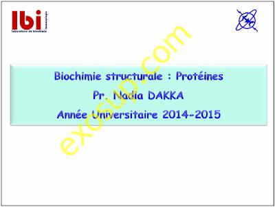 cours biochimie structurale svi s3
