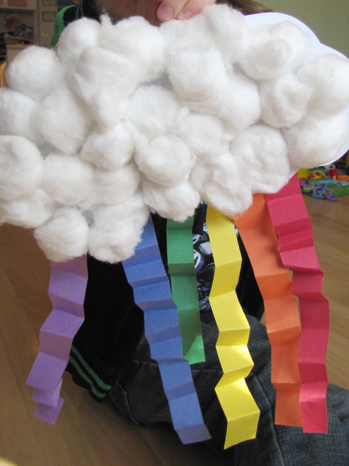 cotton ball rainbow craft rainbow with five in a row s the clown of god unit 3706