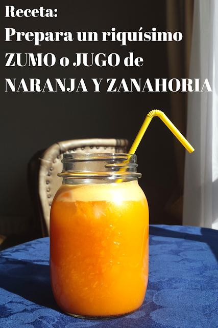 Cómo preparar jugo light de Naranja y Zanahoria. Receta sin Azúcar, solo 2 ingredientes.