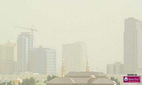 Sandstorm in Jeddah, Saudi Arabia