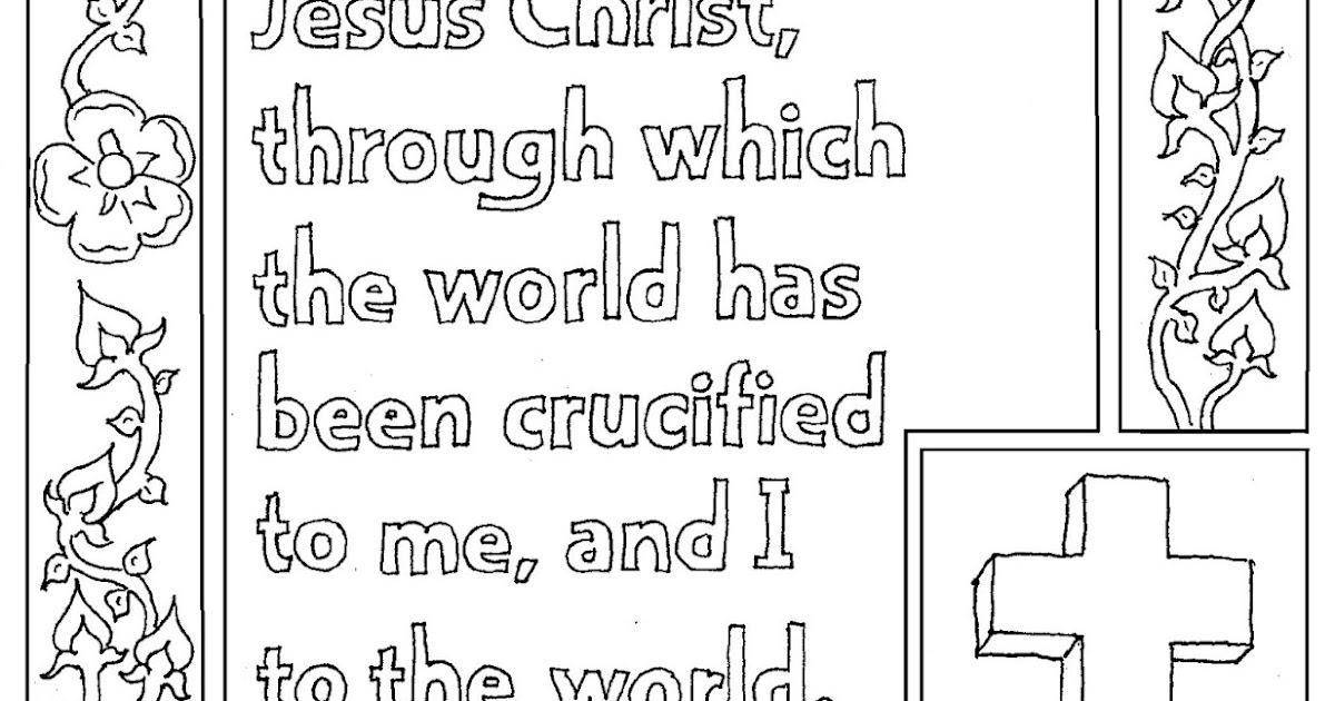 Coloring Pages for Kids by Mr. Adron: Bible Verse Coloring