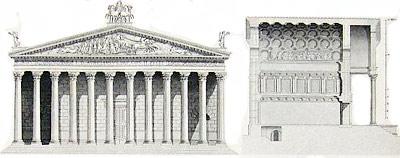 Il tempio romano for Immagine di un disegno di architetto