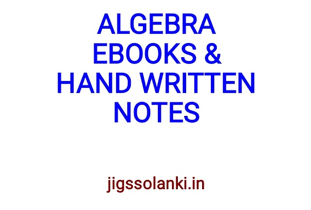 ALGEBRA ALL HAND WRITTEN NOTE AND FORMULAS SHORTCUT TRICK