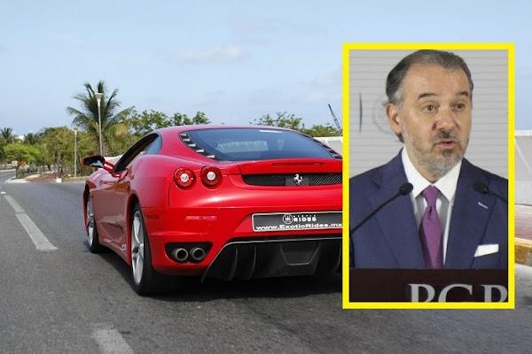 El titular de la PGR emplacó su lujoso Ferrari en una casa abandonada de Morelos para no pagar tenencia