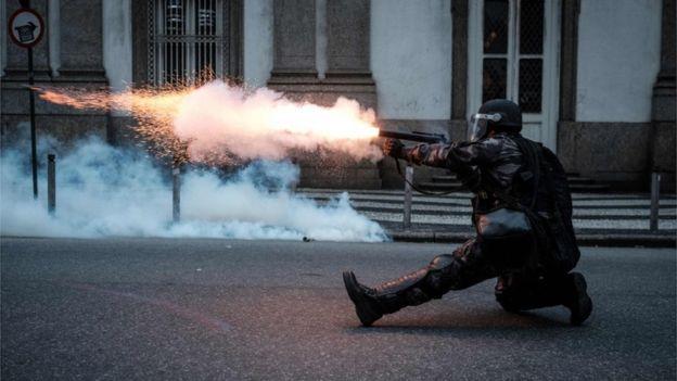 Violence erupts in Brazil after general strike