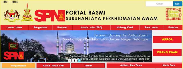 Rasmi - Jawatan Kosong (SPN Selangor) Suruhanjaya Perkhidmatan Awam 2019