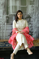 Mannara Chopra in Silky White Salwar Suit with Pink Chunni Latest Exclusive Pics March 2017 ~  022.JPG