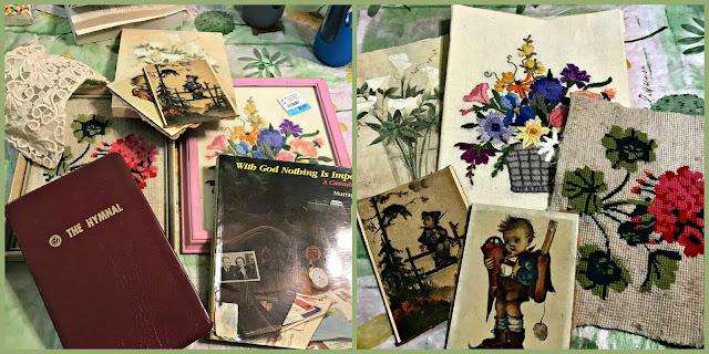 October 6, 2018 At a new thrift store and liberating images from old frames