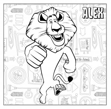 Cartoons Coloring Pages Alex Coloring