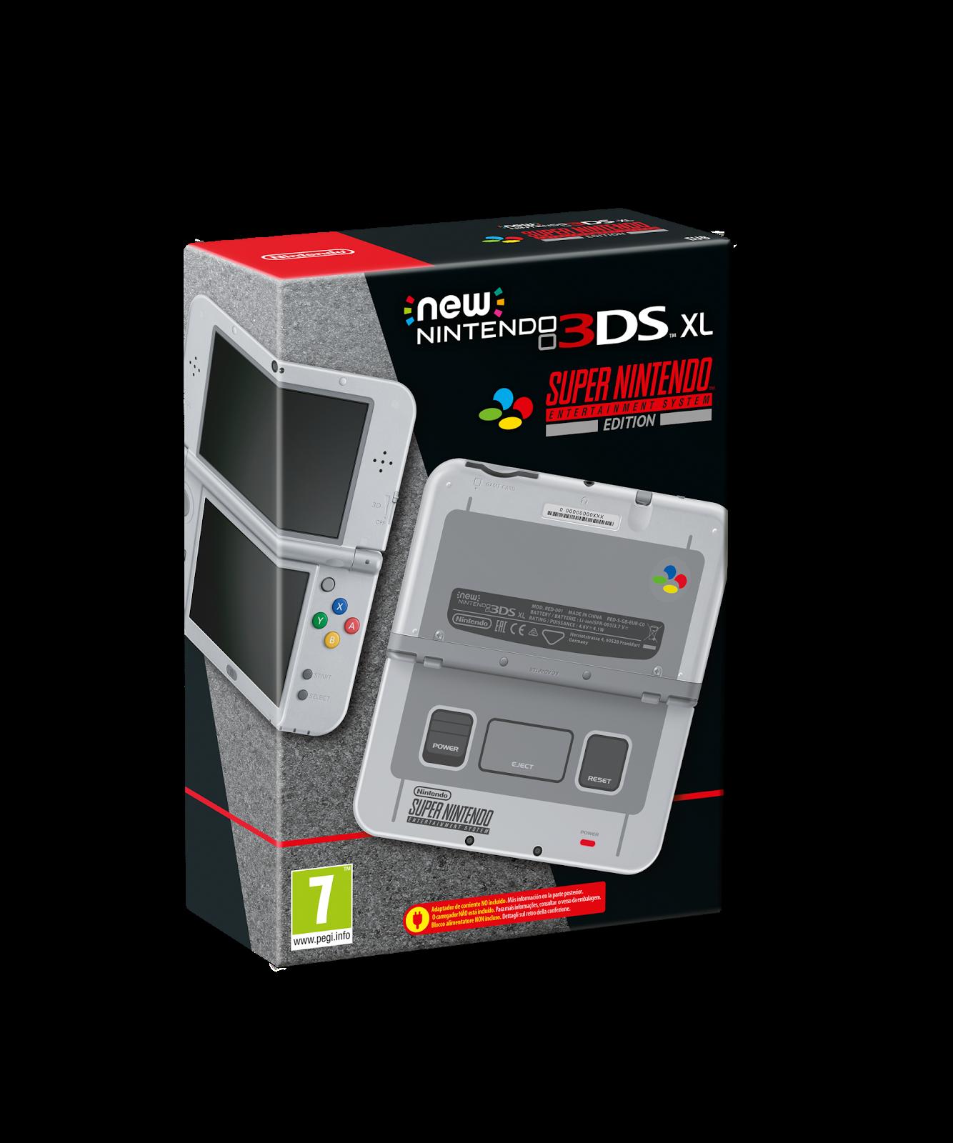 New Nintendo 3DS XL SNES llegará el 13 de octubre con tres nuevos Nintendo Select