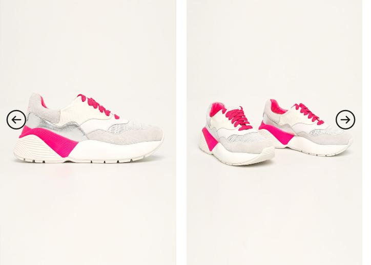 Adidasi dama de firma albi cu talpa groasa pile naturala Twinset