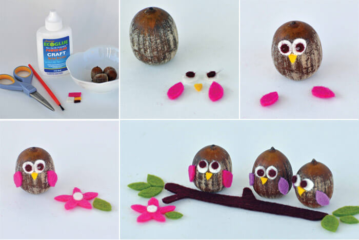 Easy felt crafts ideas step by step crazzy craft for Inexpensive craft ideas