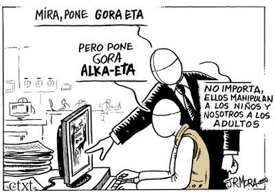 columna Josetxu Rodríguez, titiriteros, querella, Alka-eta,
