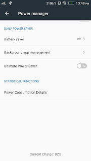 Lenovo Vibe K4 Note Power manager