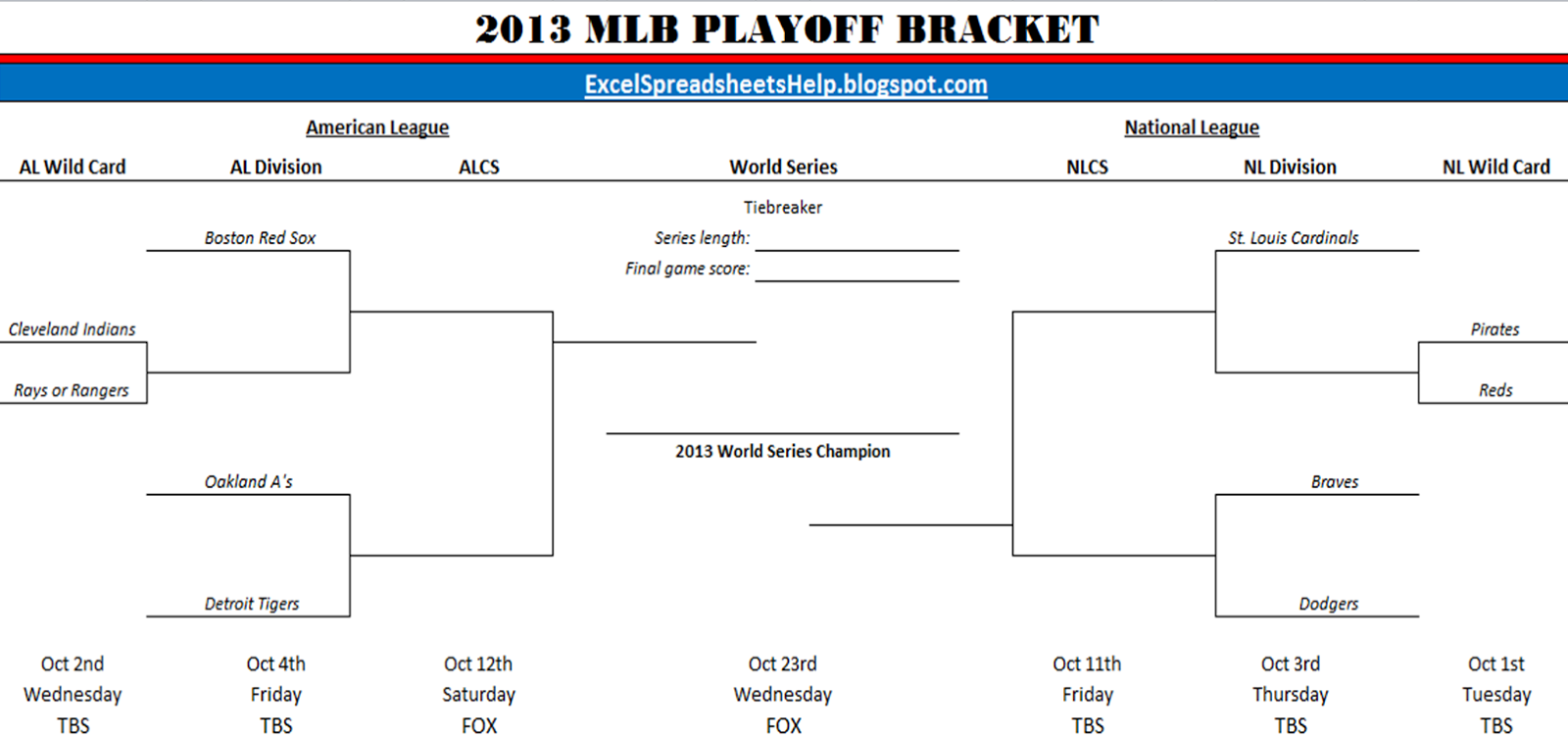 2011 Mlb Postseason Bracket