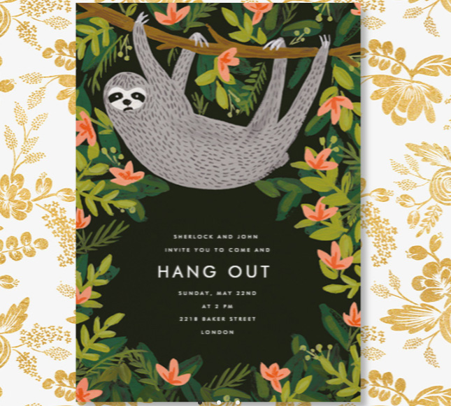 Sloth hang out invite