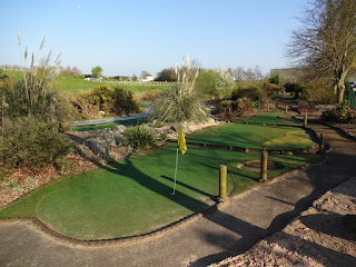 Mini Golf course at Clays Golf Centre in Wrexham