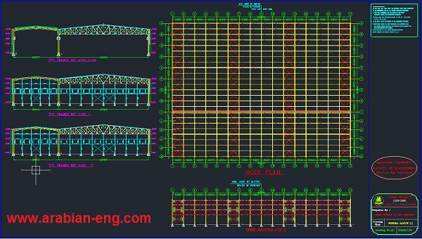مشاريع استيل كامله اتوكاد | steel projects dwg