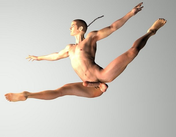 naked male ballet dancer
