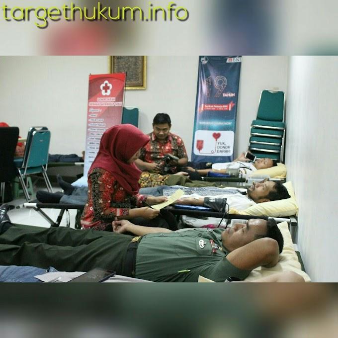 Serikat Pekerja Bank BNI HUT Ke- 19 Penggalangan Donor Darah Bersama Kodim 0718 PATI