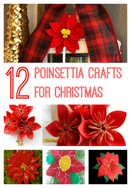 12 pretty poinsettia crafts to make for Christmas