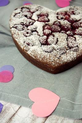 Gesunder Himbeer-Schoko-Kuchen